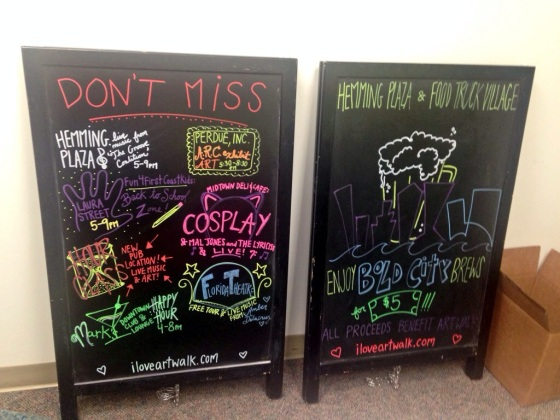 Art Walk Chalkboards